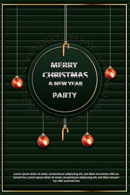 Frohe weihnachten und neujahr party flyer Kostenlosen Vektoren
