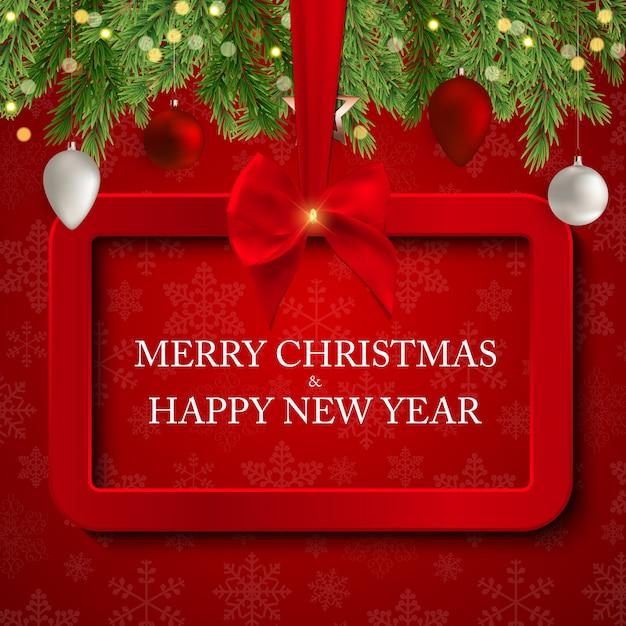 Frohe weihnachten und neujahr. Premium Vektoren
