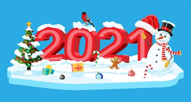 Frohe weihnachten und neujahrsgruß weihnachtskarte Premium Vektoren
