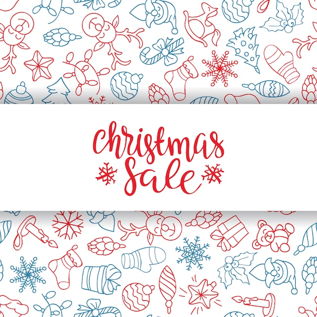 Frohe weihnachten verkauf hintergrund. perfektes dekorationselement für karten, einladungen und andere Kostenlosen Vektoren