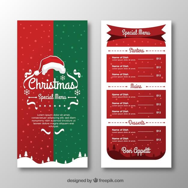 Menü Weihnachten.Frohe Weihnachten Vintage Menü Download Der Kostenlosen Vektor