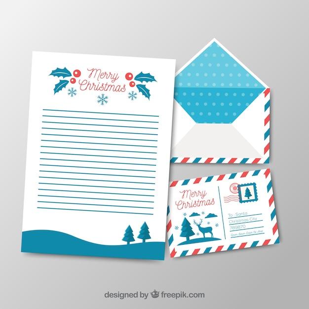 Frohe Weihnachten Brief.Frohe Weihnachten Vorlagen Von Einem Brief Und Einem