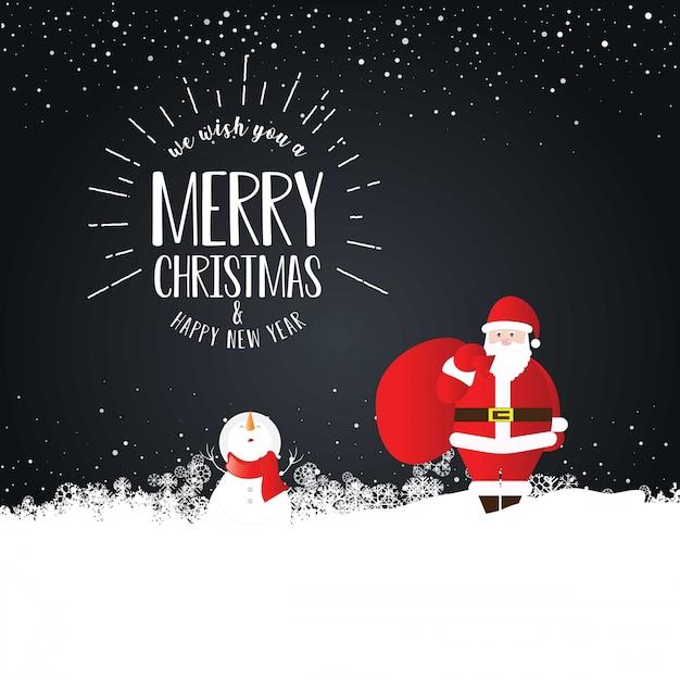 Frohe weihnachten weihnachtsmann-karte Kostenlosen Vektoren