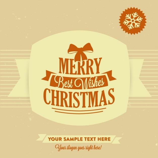 Frohe Weihnachten wünscht Vorlage | Download der kostenlosen Vektor