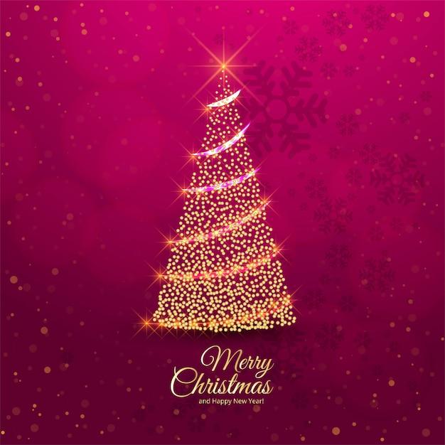 Frohe weihnachtsbaum feier karte Kostenlosen Vektoren