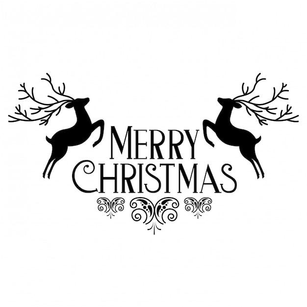 Frohe weihnachtsdekoration Premium Vektoren