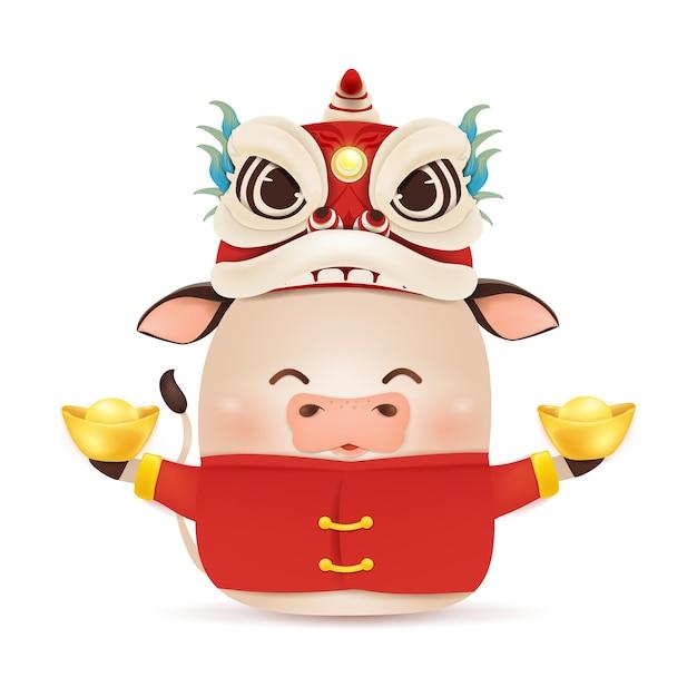 Frohes chinesisches neujahrsillustration Premium Vektoren