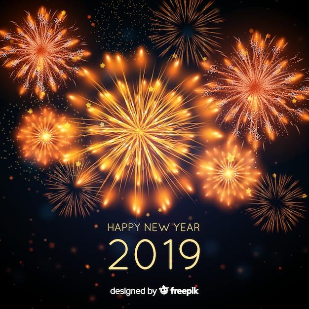 Frohes neues jahr 2019 hintergrund Kostenlosen Vektoren