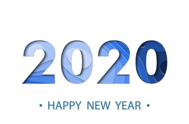 Frohes neues jahr 2020 backgroun Premium Vektoren