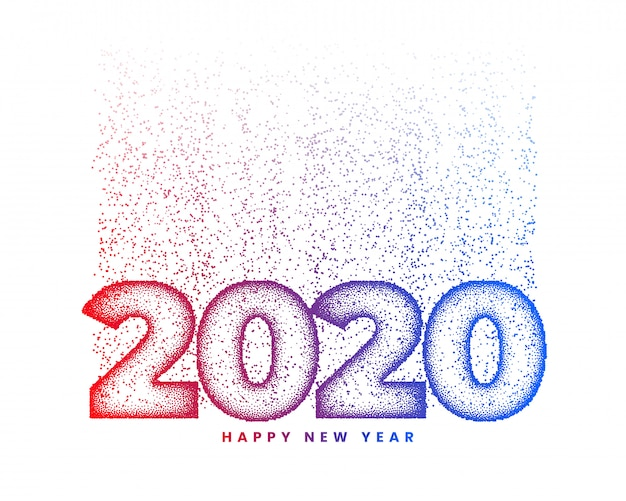 Frohes neues jahr 2020 grußkarte Kostenlosen Vektoren