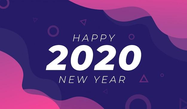 Frohes neues jahr 2020 hintergrund Premium Vektoren