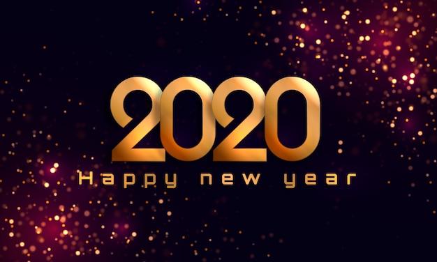 Frohes neues jahr 2020 Premium Vektoren