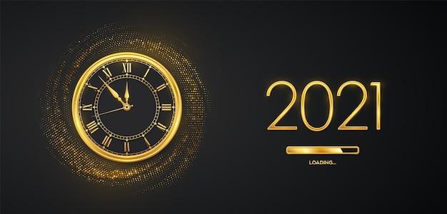 Frohes neues jahr 2021. Premium Vektoren