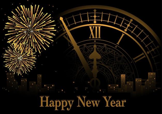 Frohes neues Jahr Gruß | Download der Premium Vektor