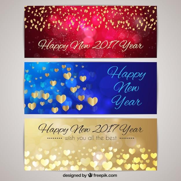 Frohes neues Jahr mit glitzernden Banner | Download der kostenlosen ...