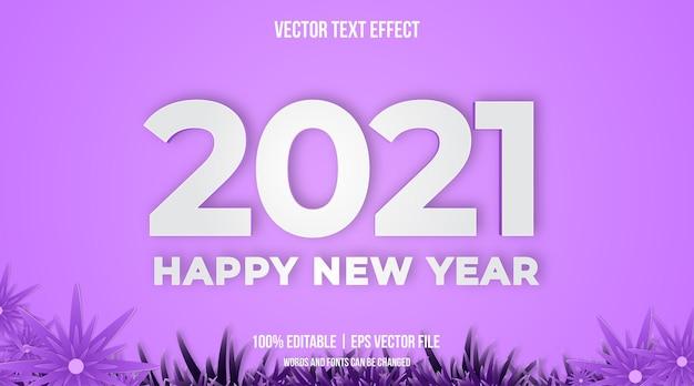 Frohes neues yaer texteffekt im minimalistischen textstil Premium Vektoren