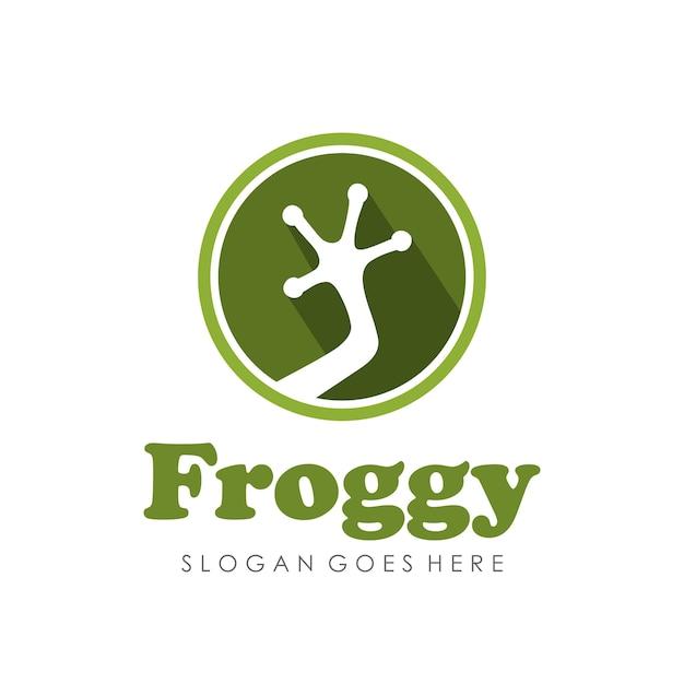 Frosch-logo / symbol entwurfsvorlage Premium Vektoren