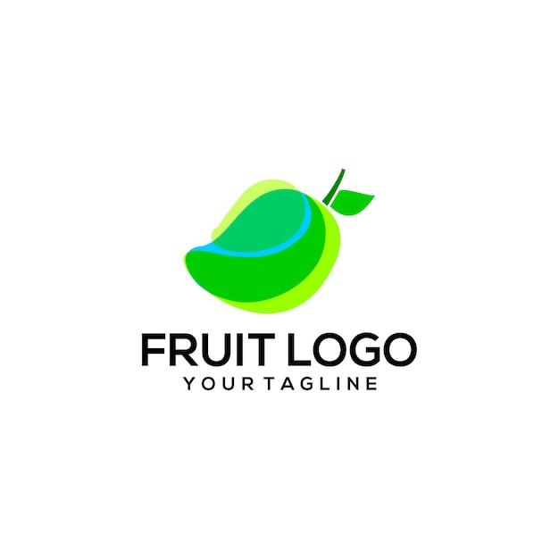 Frucht-logo Premium Vektoren