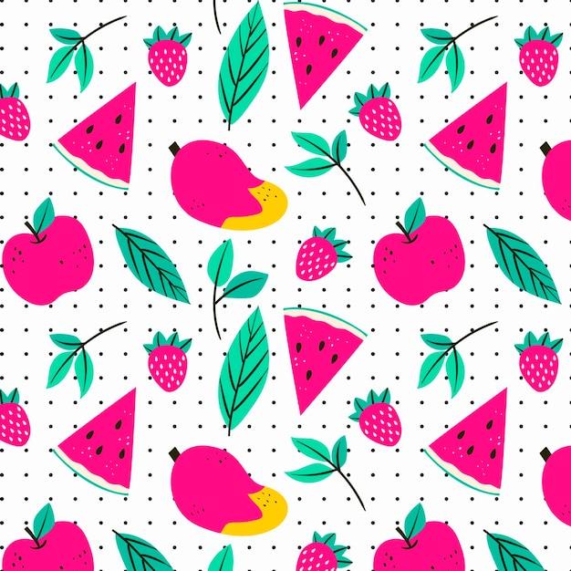 Fruchtmuster mit wassermelone Kostenlosen Vektoren