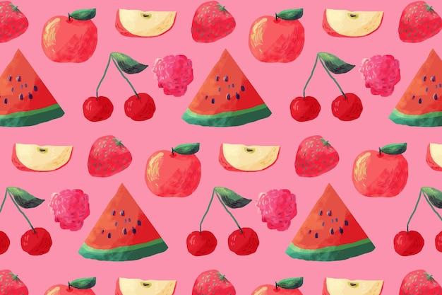 Fruchtmuster mit wassermelonen Kostenlosen Vektoren