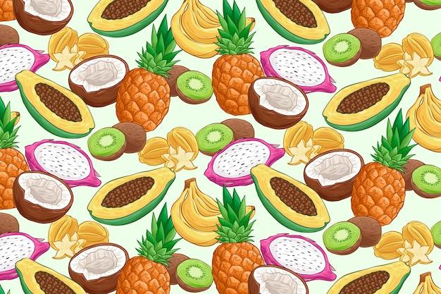 Fruchtmusterkonzept Kostenlosen Vektoren