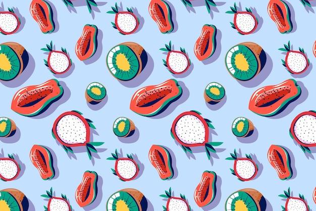 Fruchtmusterpaket Kostenlosen Vektoren
