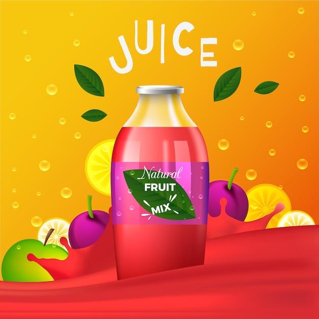 Fruchtsaft-werbebanner Kostenlosen Vektoren