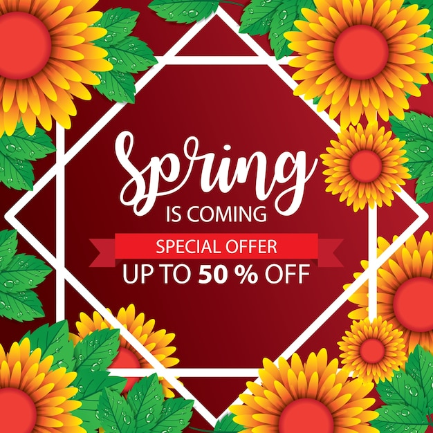 Frühling banner Premium Vektoren