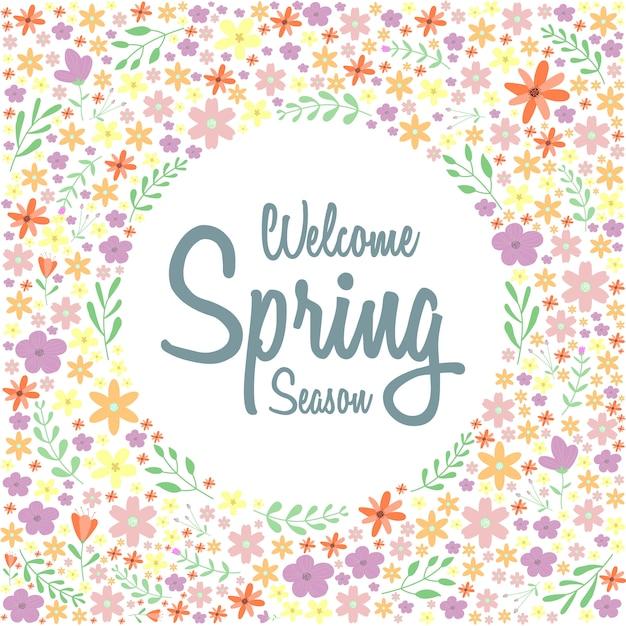 Frühling blumenmuster oder hintergrund Premium Vektoren