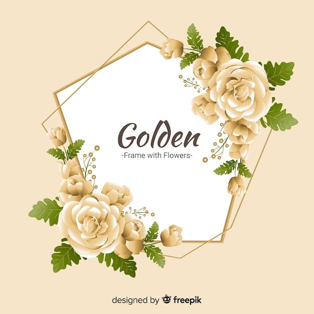 Frühling goldene rosen hintergrund Kostenlosen Vektoren