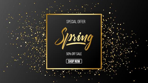 Frühling sonderangebot verkauf vorlage hintergrund Premium Vektoren