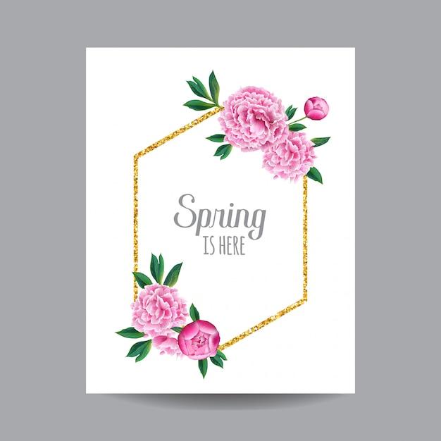Frühling und sommer floral design Premium Vektoren