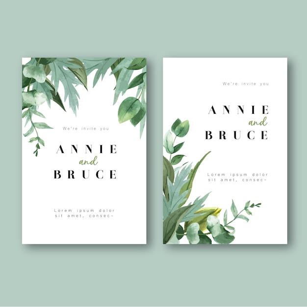 Frühlings-einladungskarte mit blumenahorn und blättern. frische botanisch, dankeskarte, muttertagsblume Kostenlosen Vektoren
