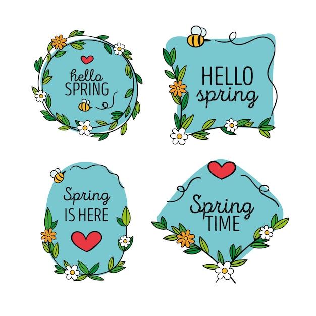 Frühlingsabzeichensammlung Kostenlosen Vektoren
