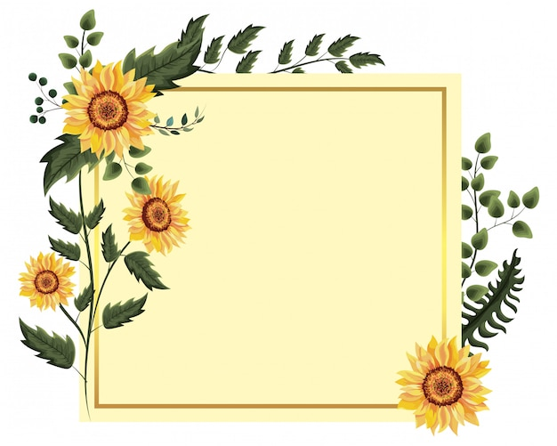 Frühlingsblumenrahmen Premium Vektoren
