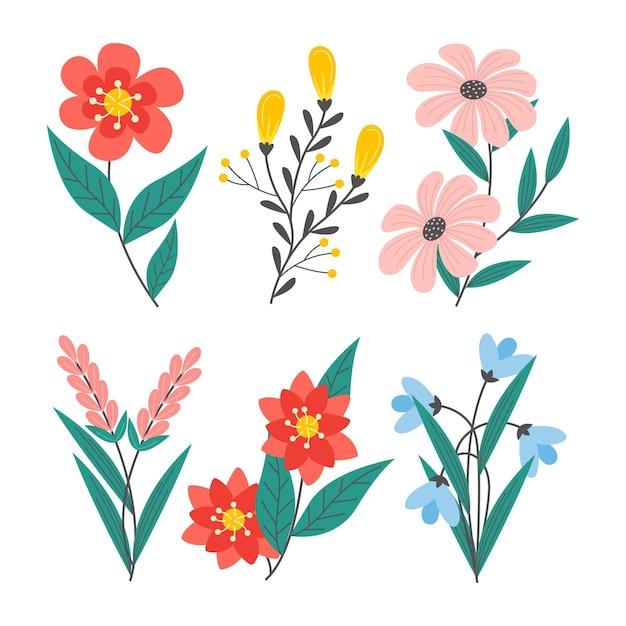 Frühlingsblumensammlung Kostenlosen Vektoren