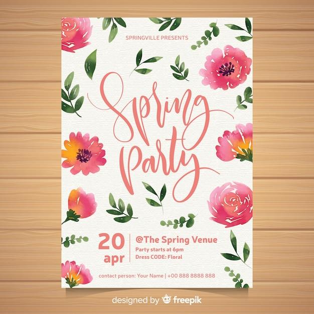 Frühlingsfest-broschüre Kostenlosen Vektoren