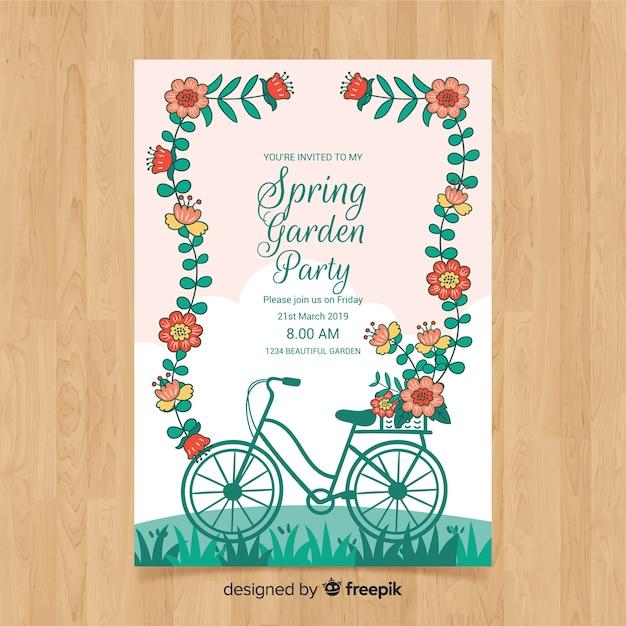 Frühlingsgarten party flyer Kostenlosen Vektoren