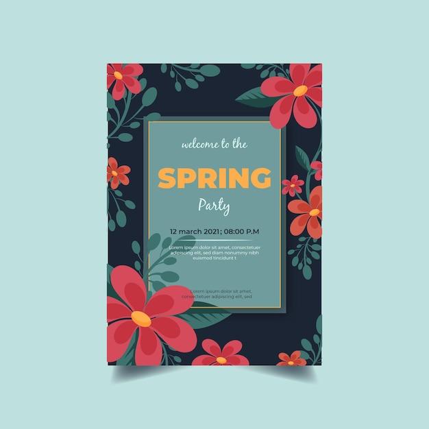 Frühlingsparty flyer vorlage Kostenlosen Vektoren