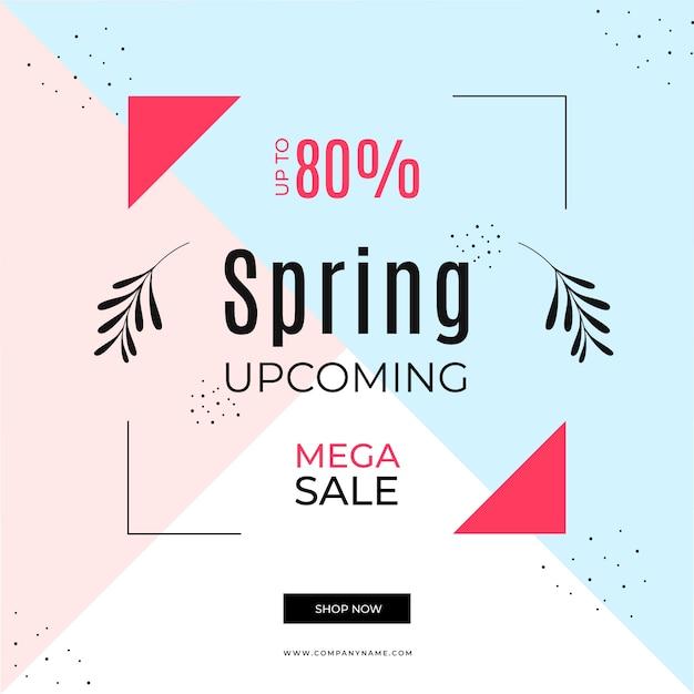 Frühlingsverkauf im memphis-stil Kostenlosen Vektoren