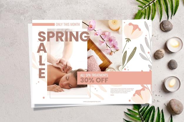 Frühlingsverkaufsfahnenkonzept Kostenlosen Vektoren