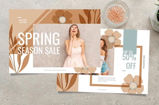 Frühlingsverkaufskonzept mit saisonverkauf Kostenlosen Vektoren