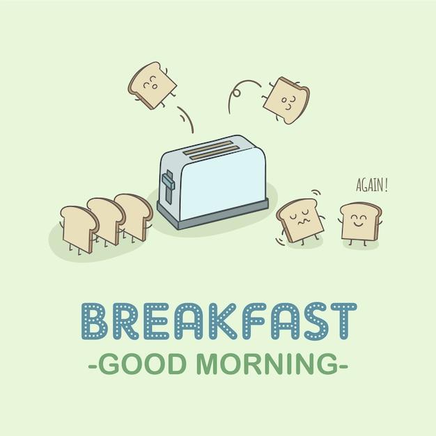 Frühstück hintergrund design Kostenlosen Vektoren