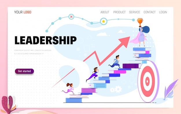 Führungskonzept Premium Vektoren