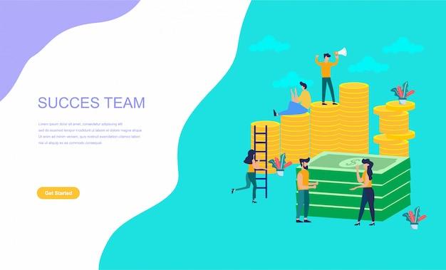 Führungsqualitäten in einem kreativen team Premium Vektoren