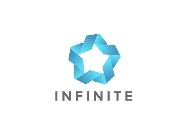 Fünf-punkte-star-union-logo isoliert auf weiß Kostenlosen Vektoren