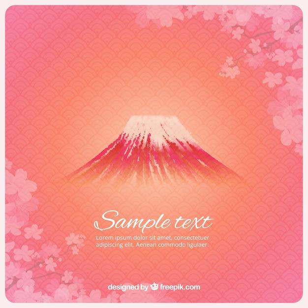 Fuji berg-hintergrund Kostenlosen Vektoren