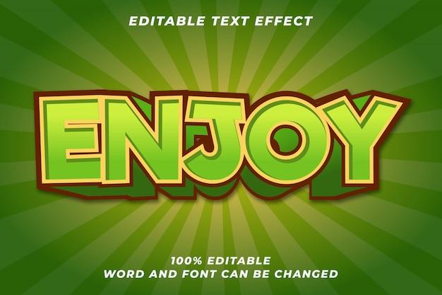 Fun enjoy game textstil-effekt Premium Vektoren
