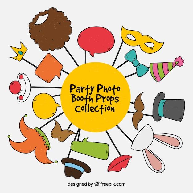 Fun Party ergänzt Sammlung Kostenlose Vektoren