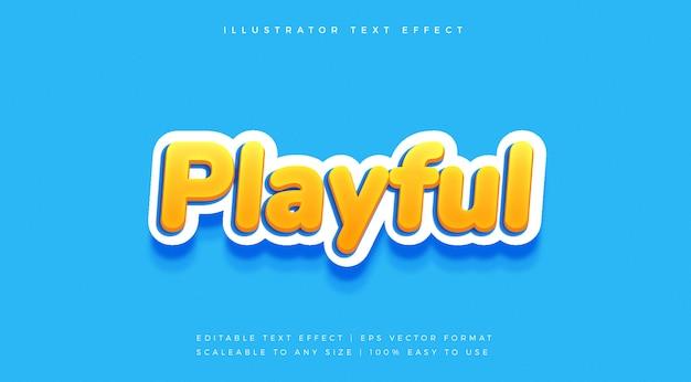 Fun playful vibrant text style schriftart-effekt Premium Vektoren